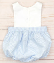 Load image into Gallery viewer, Blue Sailboat Sunsuit
