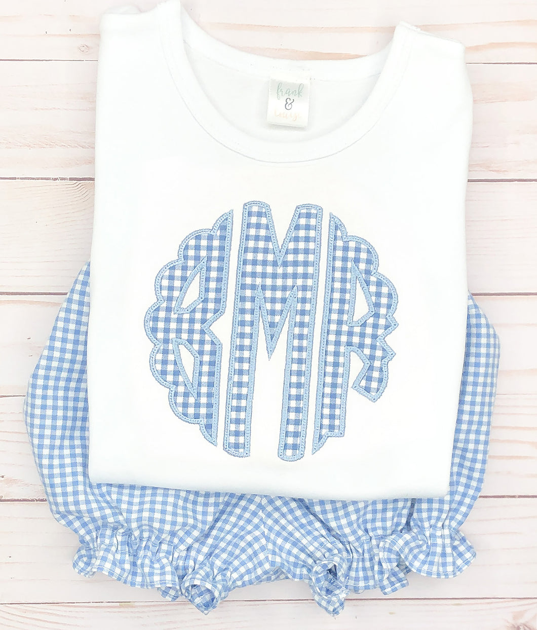 Periwinkle Scallop Monogram Set