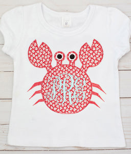 Floral Monogram Crab Shirt