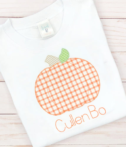 Orange Gingham Pumpkin