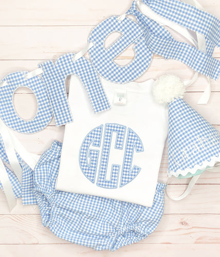 Periwinkle Gingahm Party Set