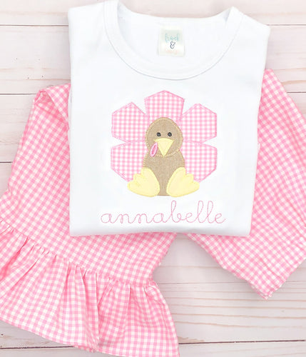 Pink Gingham Turkey Set