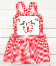 Load image into Gallery viewer, Christmas Ruffle Bib Dress