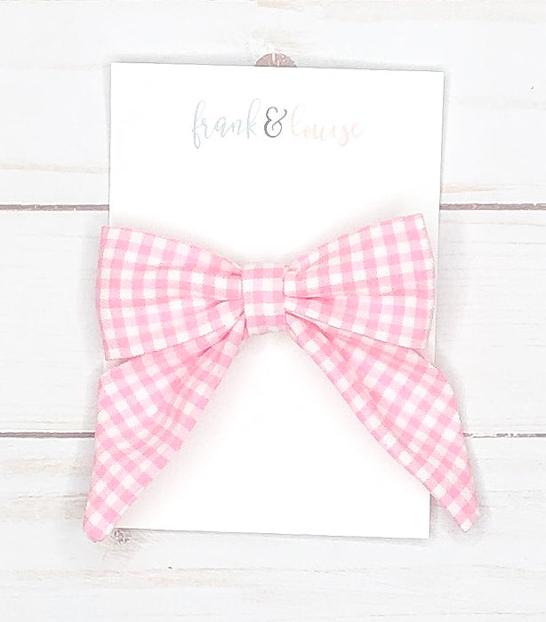 Large Gingham Sailor Bows