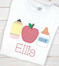 Load image into Gallery viewer, School Supplies Trio Shirt