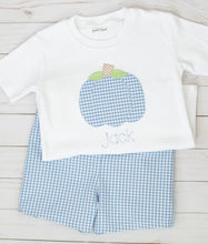 Load image into Gallery viewer, Blue Gingham Pumpkin Set