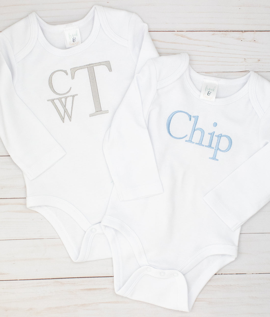 Grey & Blue Bodysuit Set