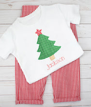 Load image into Gallery viewer, Red Gingham Christmas Tree Outfit