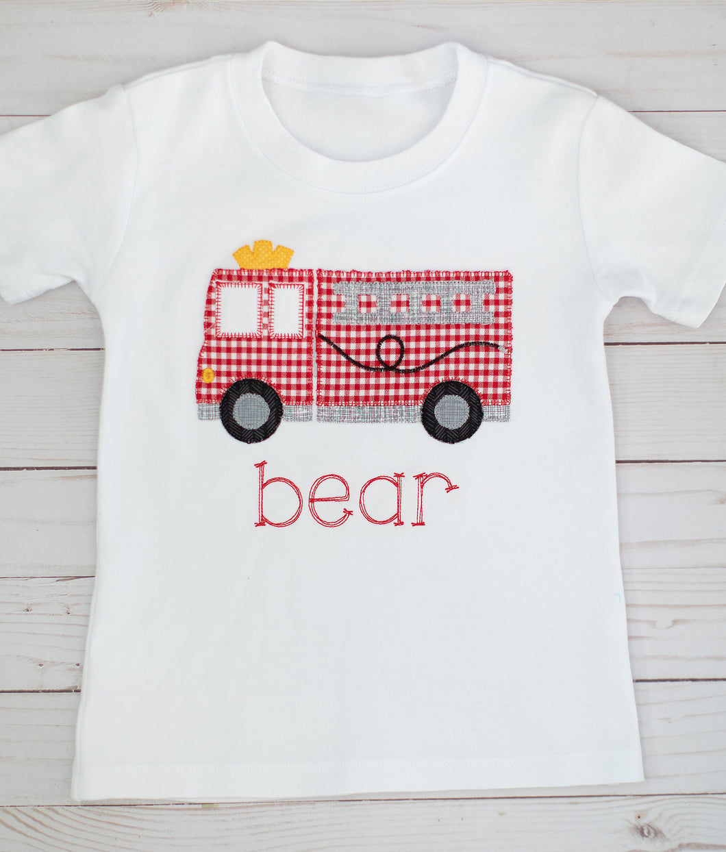 Firetruck Applique Shirt