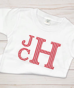 Red Monogram Appliqué Shirt