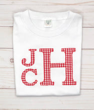 Load image into Gallery viewer, Red Monogram Appliqué Shirt