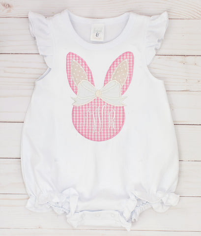 Pink Gingham Bunny Bubble