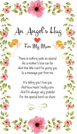 Angel Hug Card Mum