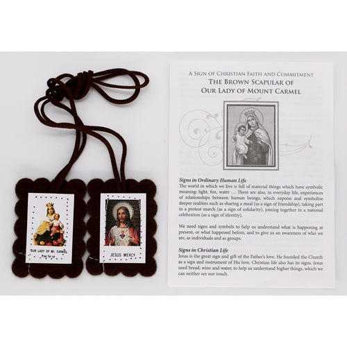 Brown Scapular with Sheet