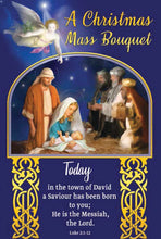 Load image into Gallery viewer, Share Mass Enrolment Card –  Christmas Mass Bouquet Nativity