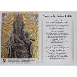 Our Lady of Dublin Prayer Card (Large) Statue
