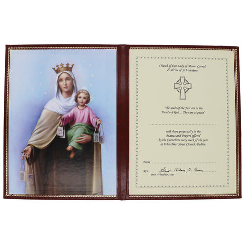 Perpetual Mass Enrolment Card RIP – Our Lady of Mount Carmel