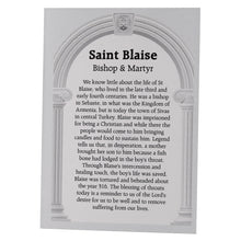 Load image into Gallery viewer, St Blaise Prayer Card & Flannel