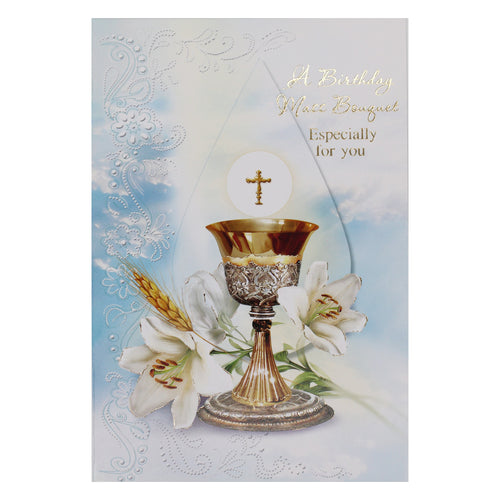 Share Mass Enrolment Card – Birthday Bouquet