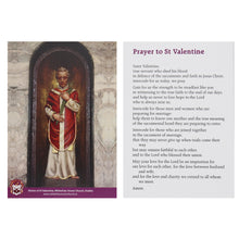 Load image into Gallery viewer, St Valentine Keyring with Prayer Card