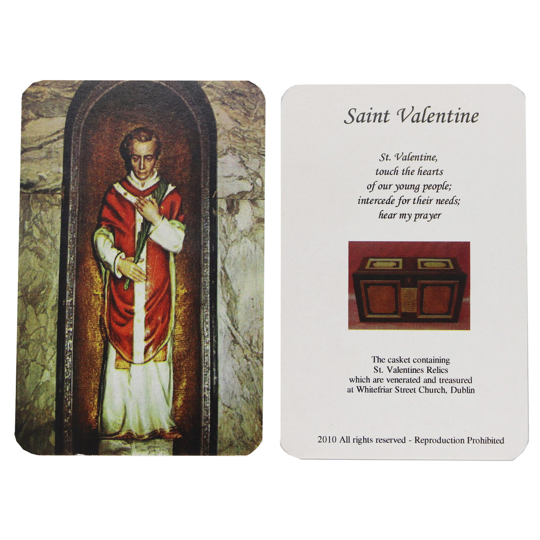 St Valentine Prayer Card (Simple)