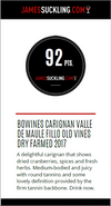 92 puntos de James Suckling para Fillo Carignan