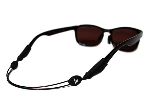 Luxe Performance Cable Strap - Premium Adjustable No Tail Sunglass Strap & Eyewear Retainer for your Sunglasses, Eyeglasses, or Prescription Glasses (Black)