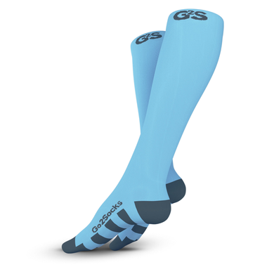 Carolina Blue Compression Socks 2 Pair 20-30 mmHg