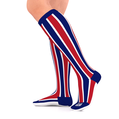 SPORTS TEAM Series Compression Socks Red/White/Blue 15-20 mmHg