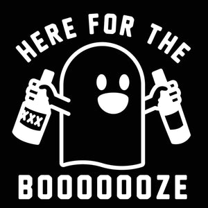 Here for the Booze Boo Men's Tri-Blend T-Shirt - Donkey Tees