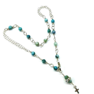 Adjustable Sterling Silver And Turquoise Cross Charm Ankle Bracelet Ankle Bracelet Lexi Butler Designs