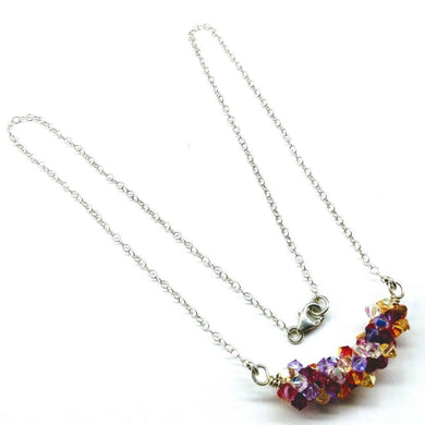 Beaded Multi Color Spring Blossom Crystal Necklace Necklace Lexi Butler Designs