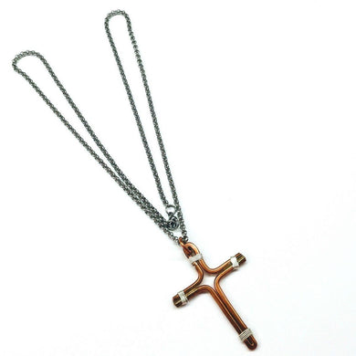 Copper Silver and Stainless Steel Cross Necklace Necklaces Lexi Butler Designs