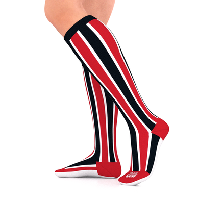 SPORTS TEAM Series Compression Socks Red/Black/White 15-20 mmHg