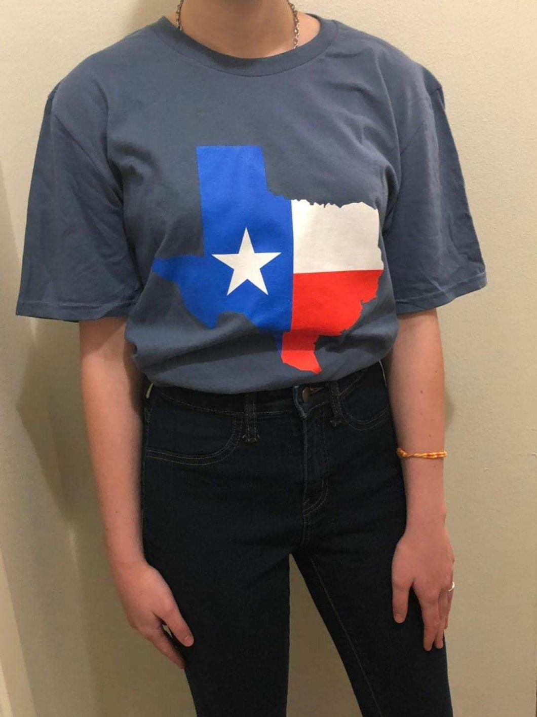 Texas-Outline 3 Color Texas Flag