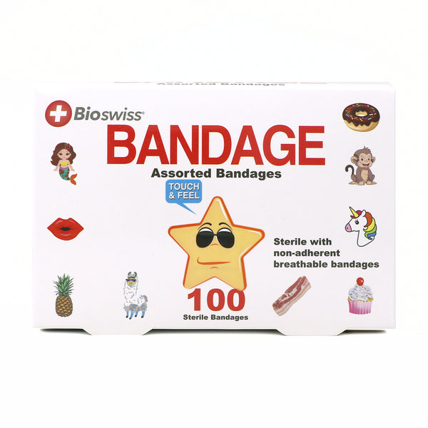 Pack of 100 Novelty Assorted Bandages