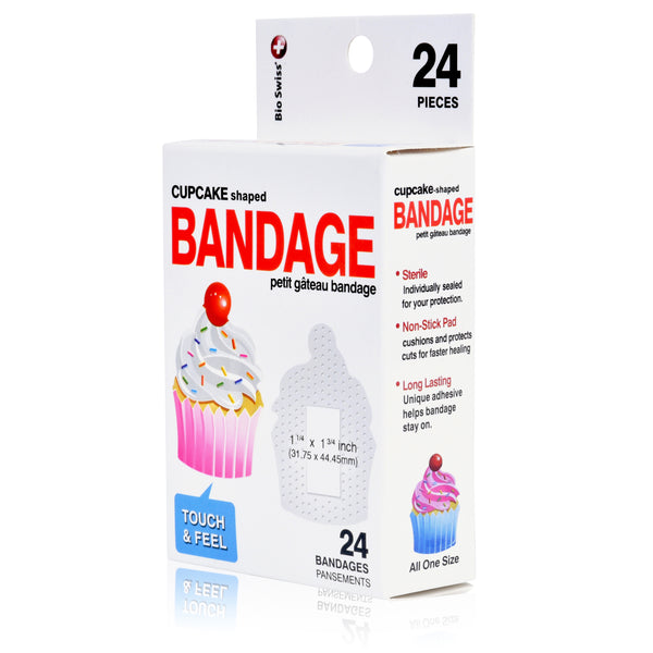 Cupcake Shaped Bandages- Pack of 24