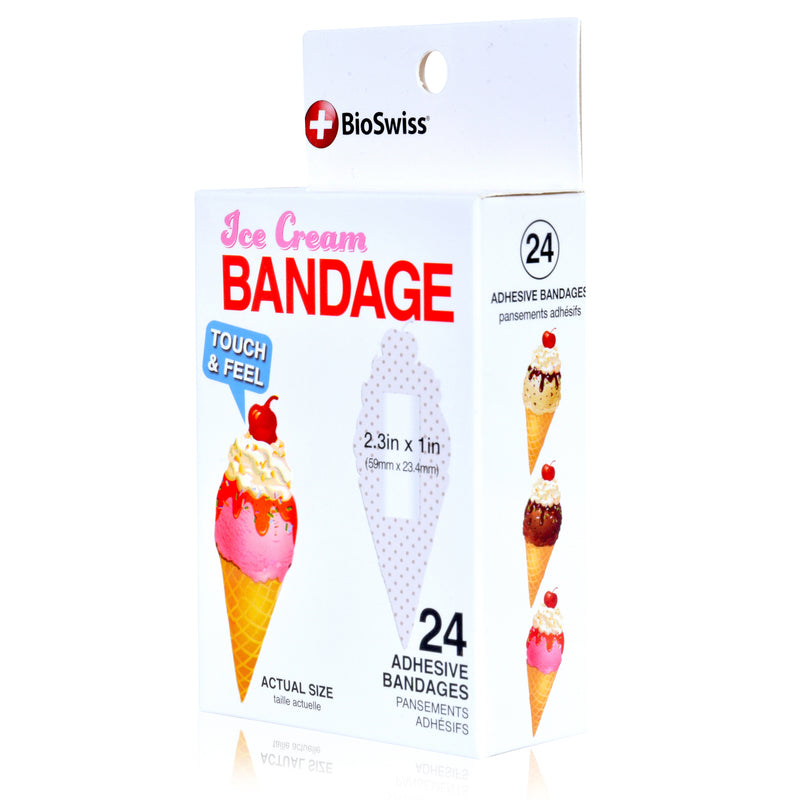 Ice Cream Shaped Bandages- Pack of 24