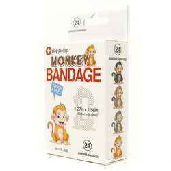 Monkey Shaped Bandage- Pack of 24