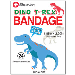 Dino T-Rex Shaped Bandages- Pack of 24