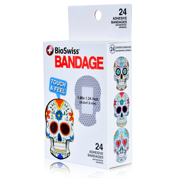 Skull Shaped Bandages- Pack of 24