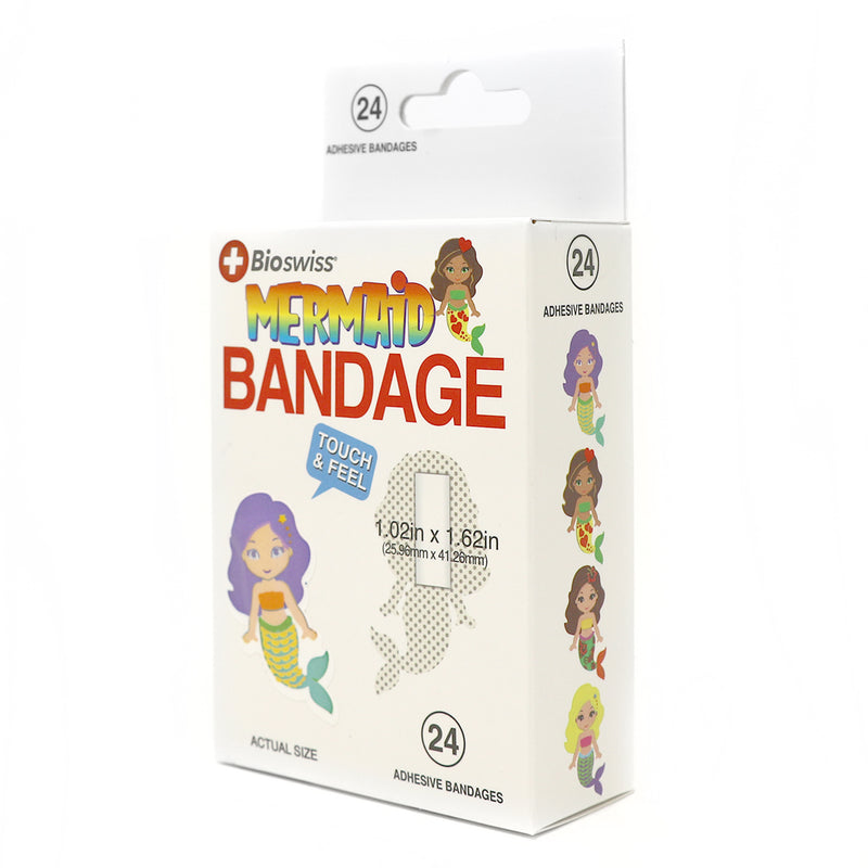 Mermaid Shaped Bandages- Pack of 24