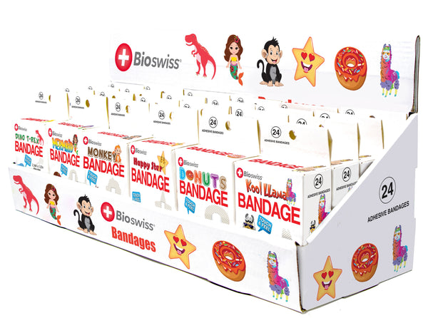 Assorted Bandage in Cardboard Display