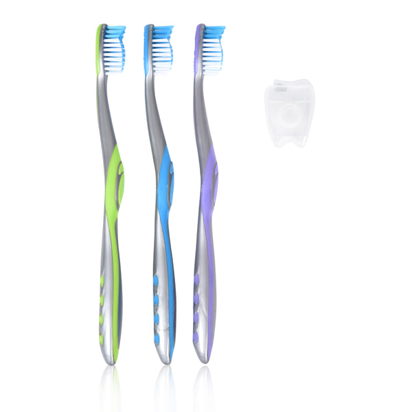 Pack of 2 Toothbrushes with Floss