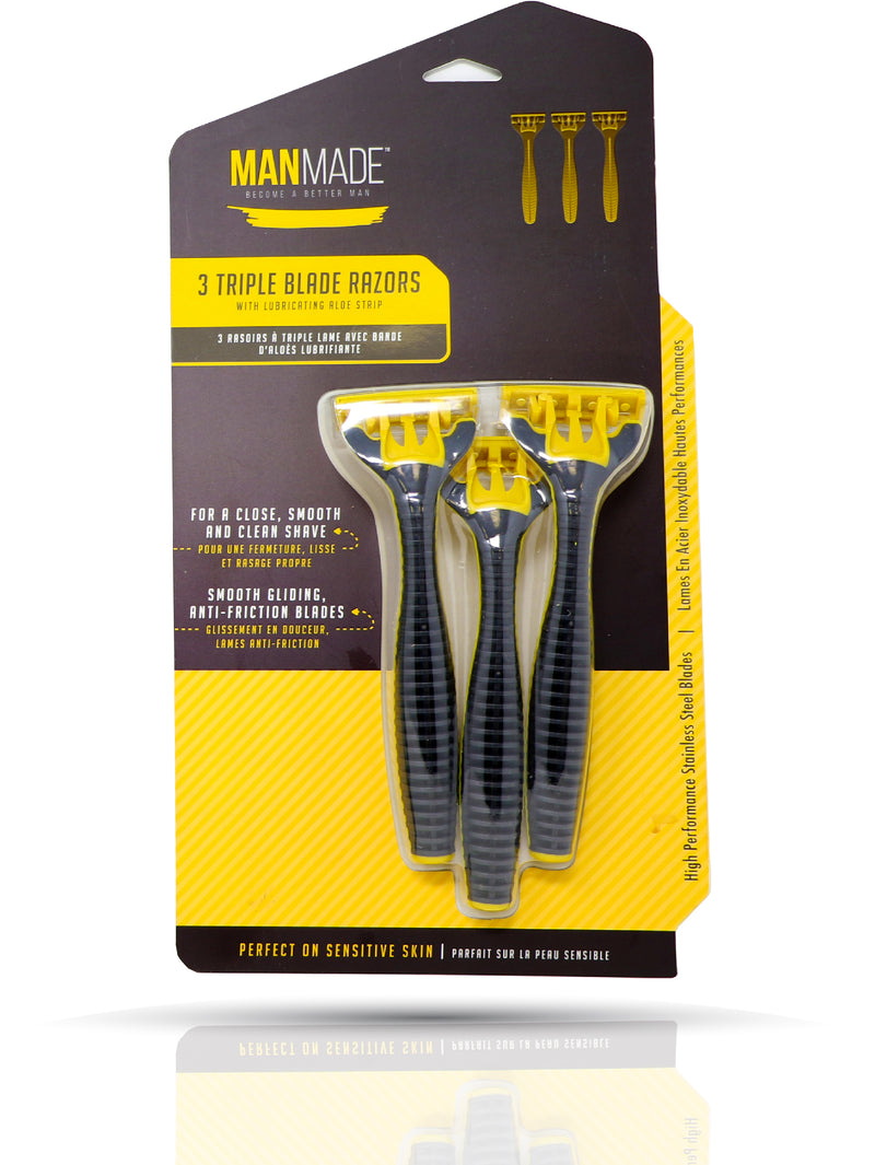 ManMade Pack of 3 Razors
