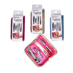 5 Piece Manicure Set in Metallic Case