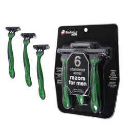 Men's Pack of 6 Triple Blade Razor