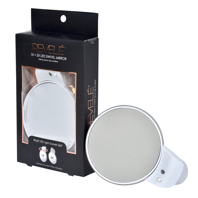5x + Tru-View LED Lighted Swivel Mirror