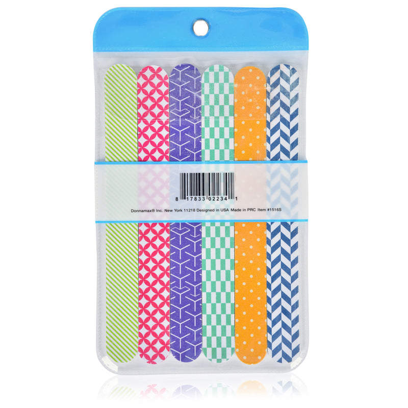 Pack of 6 Printed Nail Files