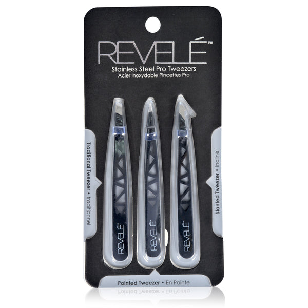 Set of 3 Precision Cut Out Tweezers
